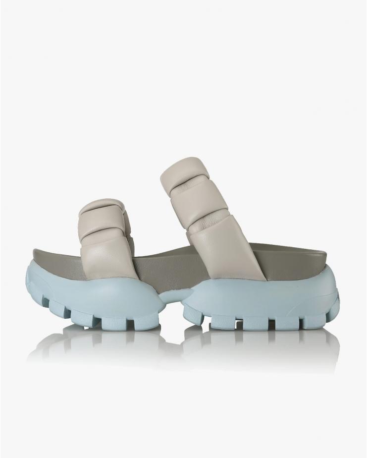 Paige Flatform Sneaker Slides in Cloud Grey