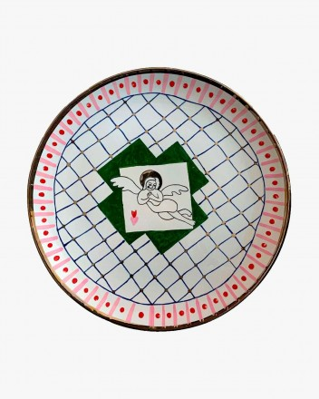 Ceramic Plate With Angel Small