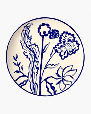 Ceramic Plate Indigo Large
