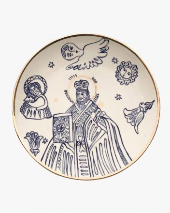Ceramic Saint Nicolas Plate...
