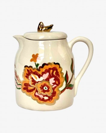 Ceramic Ewer With Flowers