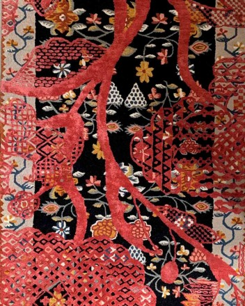 Hand-Made Woven Carpet With...