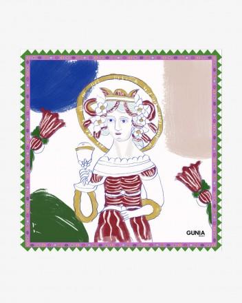 Silk Headscarf With Saint...