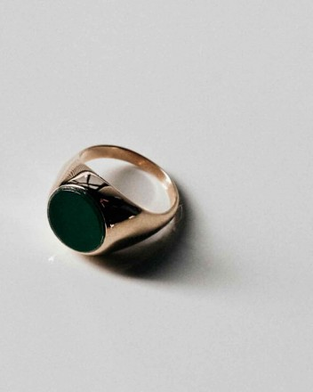 June Jade Gold Ring