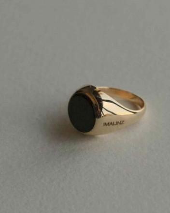 June Onyx Gold Ring