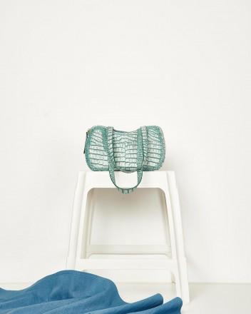 Decerio XS Emerald Croc Bag