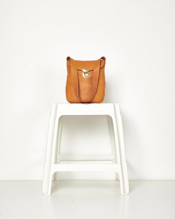 Zurroncito Leather Pomelo Bag