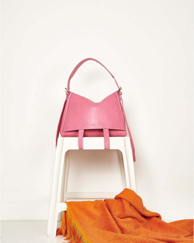 Safari Medium Leather Pink Bag
