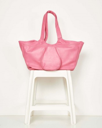 Boat XL Leather Pink Bag