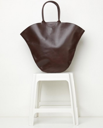 Tulip XL Leather Dark Brown...