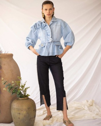 Luana Trousers in Navy