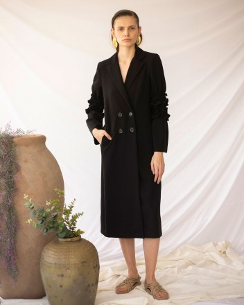 Pandora Coat in Black