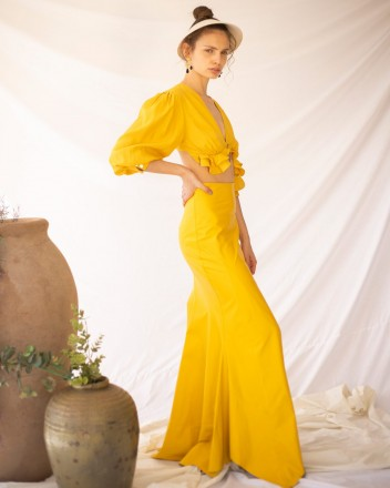 Ficus Skirt in Yellow
