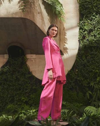 Deep Coat in Pink