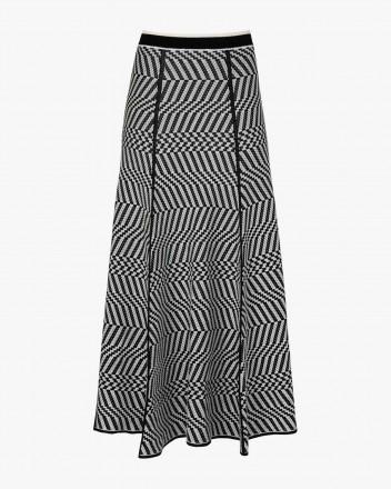 Black Maze Skirt