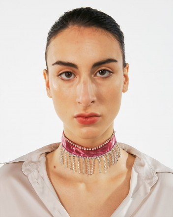 The Mini Choker Scarf in Pink