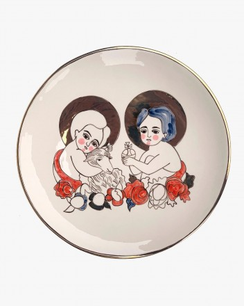 Ceramic Plate With The...