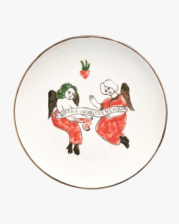 Ceramic Plate With Angels...