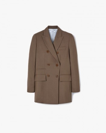 Double-Breasted Wool Blazer...