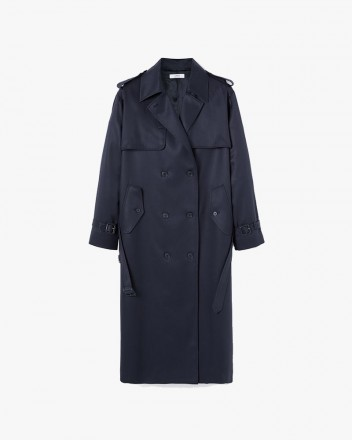 Belted Trench Coat in Navy