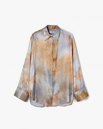 Pajama Style Straigh-Fit Shirt