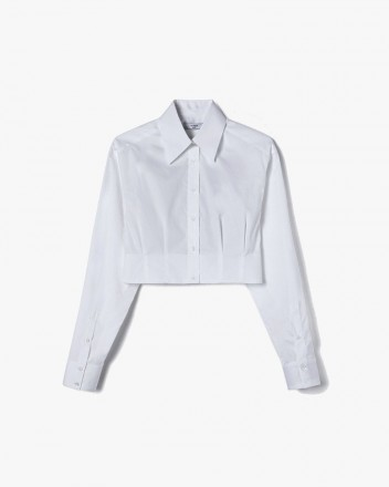 Dart-Detail Cropped Shirt