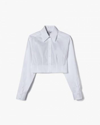 Dart-Detail Cropped Shirt