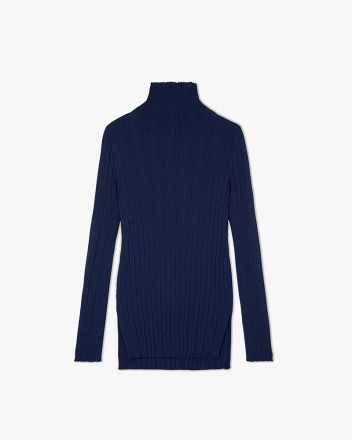 Turtleneck Slim-Fit Knit...