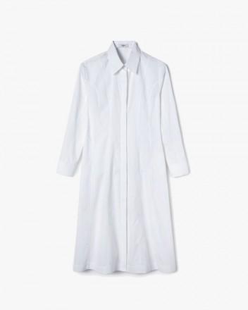 Panel-Detailing Dress in White