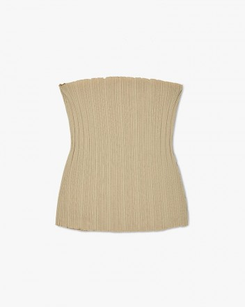Knit Bustier Top in Neutral