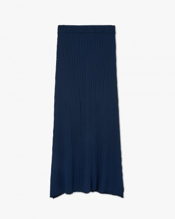 Ankle-Lenght Flared Knit Skirt