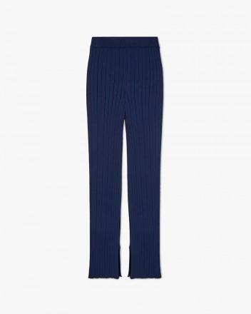 Straigh-Leg Knit Trousers