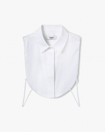 Pleated-Detail Bib Vest