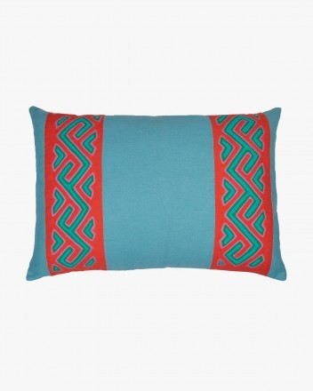Kuna Cushion in Light Blue