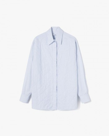 Front-Padded Stripes Shirt