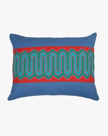 Kuna Cushion in Red and Blue