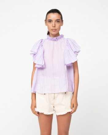 Bailey Broomstick Top in Lilac