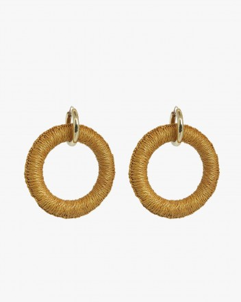 Maguey Goldenrod Hoops