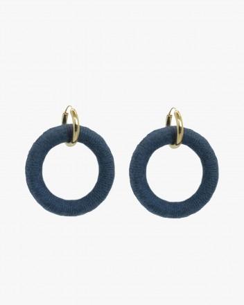 Lana Steel Blue Hoops
