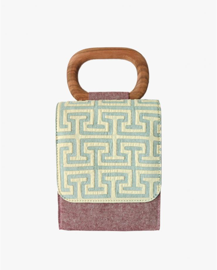 Labyrinths Of Celadon Micro Bag