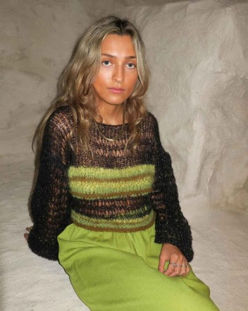 Myrtel Knit Sweater in Green