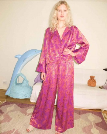 Naomi Silk Pants Cropped