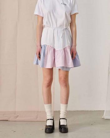 Berta Popline Patchwork Skirt