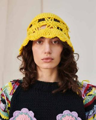 Cleo Hat in Yellow