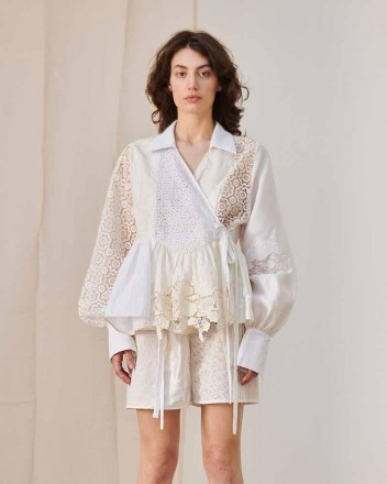 Ophelia Lace Patchwork Blouse