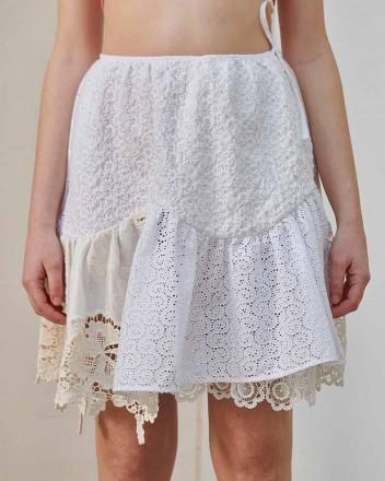 Berta Lace Patchwork Skirt