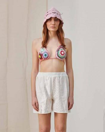 Santo Lace Patchwork Shorts