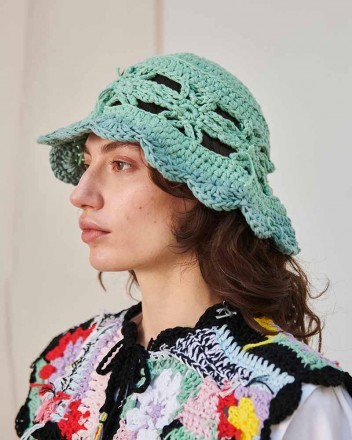 Cleo Hat in Green