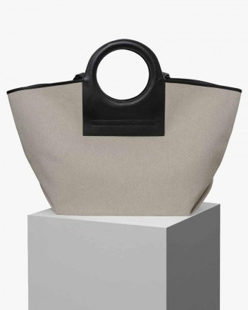 Cala Large Tote in Beige...