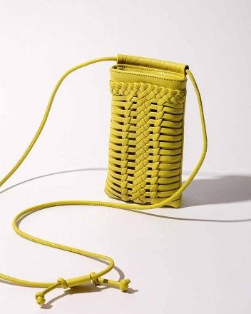 Trena Phone Crossbody in Lemon